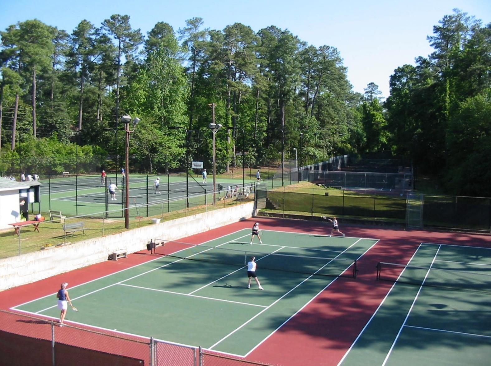 Tennis courts at the Fermata Club.
